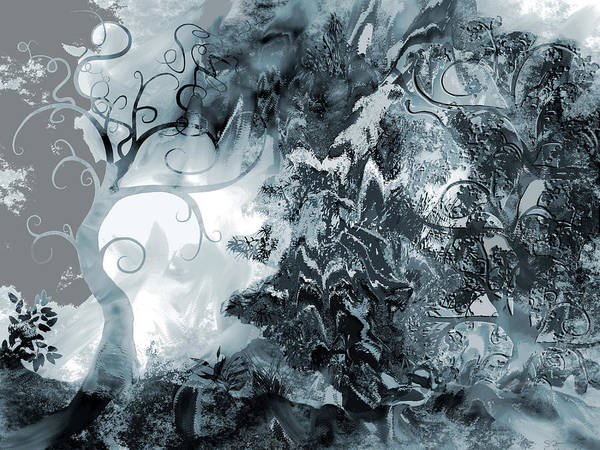 Grey Skies Drawing - Thunderstorm by Abstract Angel Artist Stephen K