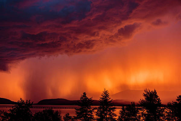 Photograph - Thunderstorm At Sunset 2 by Albert Seger