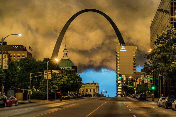 Photograph - Thunderstorm Over The Gateway Arch by Garry McMichael