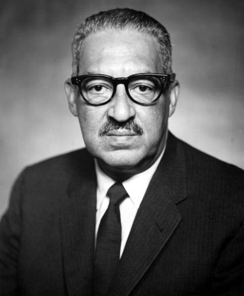 Wall Art - Photograph - Thurgood Marshall 1908-1993 Pictured by Everett