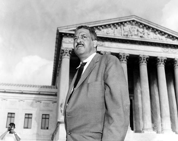 Court Photograph - Thurgood Marshall by Granger