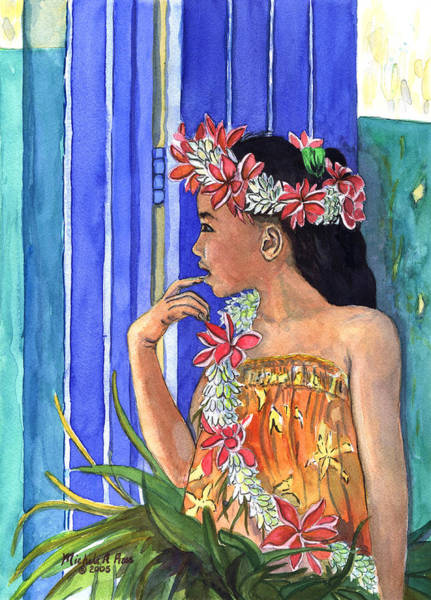 Hawaii Wall Art - Painting - Tiare Lei by Michele Ross