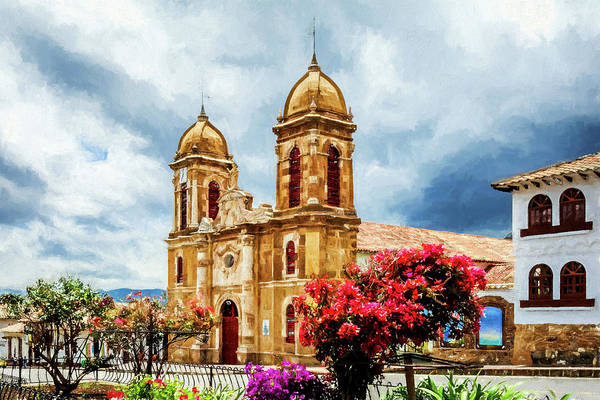 Boyaca Photograph - Tibasosa Church by Maria Coulson