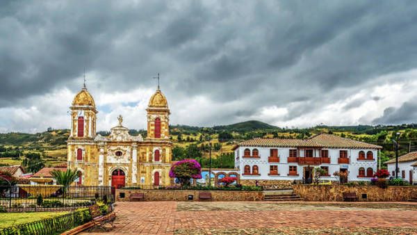 Boyaca Photograph - Tibasosa's Main Square by Maria Coulson