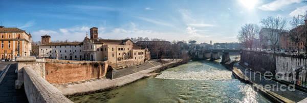 Tiber Island Wall Art - Photograph - Tiber Island In Rome by Frank Bach