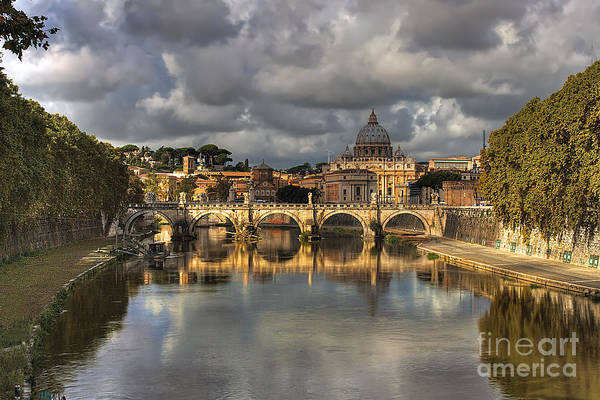 Photograph - Tiber River by Peter Kennett