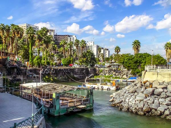 Photograph - Tiberias Harbor At Sea Of Galilee by Brian Tada