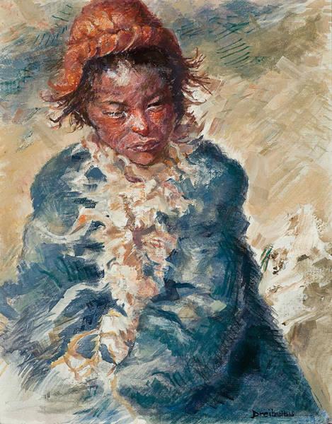 Painting - Tibetan Goatherd by Ellen Dreibelbis