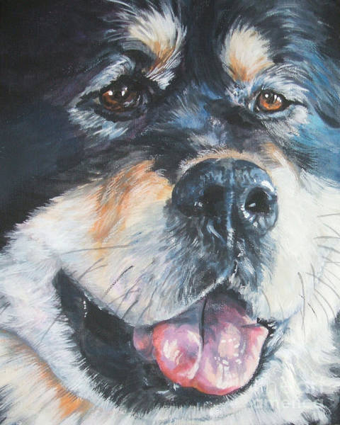 Tibetan Wall Art - Painting - Tibetan Mastiff by Lee Ann Shepard