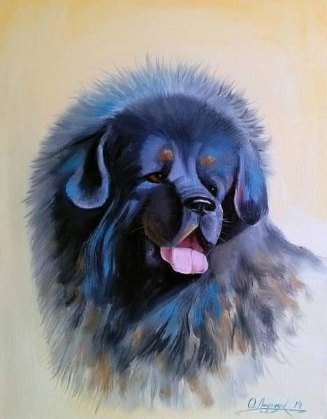 Tibetan Mastiff Painting - Tibetan Mastiff by Olha Darchuk