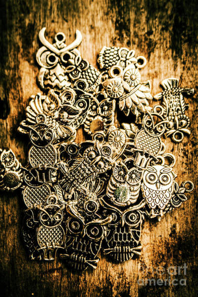 Tibetan Wall Art - Photograph - Tibetan Owl Charms by Jorgo Photography - Wall Art Gallery