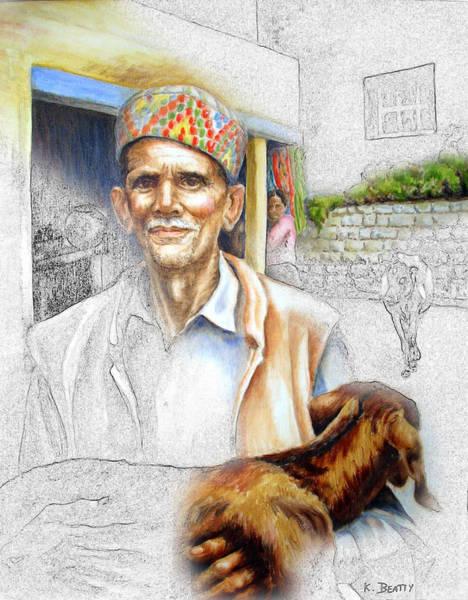 Painting - Tibetan Refugee Digital Art by Karla Beatty