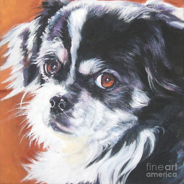 Tibetan Wall Art - Painting - Tibetan Spaniel by Lee Ann Shepard