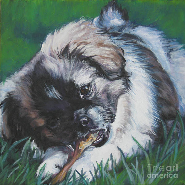 Tibetan Wall Art - Painting - Tibetan Spaniel Pop by Lee Ann Shepard