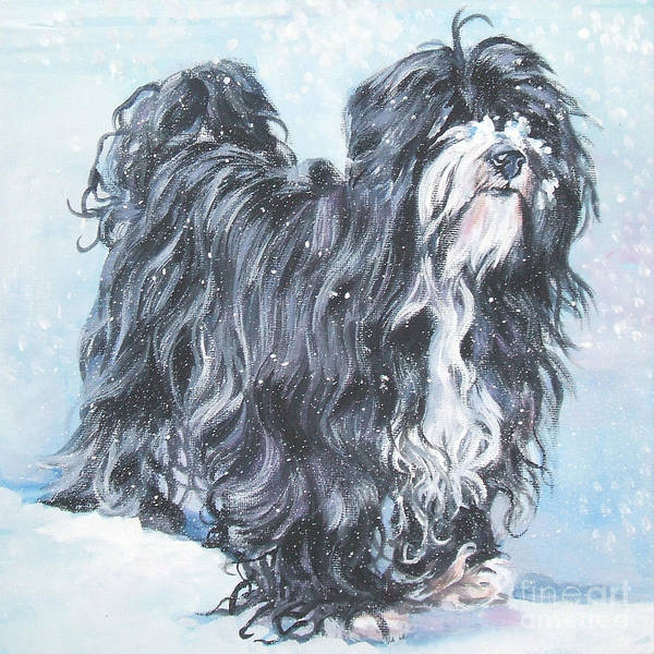 Tibetan Wall Art - Painting - Tibetan Terrier by Lee Ann Shepard