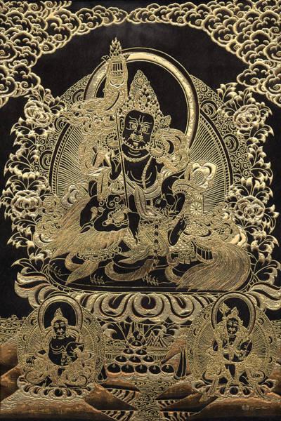 Wall Art - Photograph - Tibetan Thangka - Vaishravana by Serge Averbukh