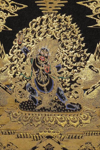 Gautama Digital Art - Tibetan Thangka - Vajrapani - Protector And Guide Of Gautama Buddha by Serge Averbukh