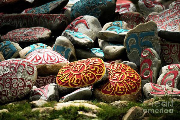 Wall Art - Photograph - Tibetian Sanskrit Himalayas Tibet Yantra.lv 2016  by Raimond Klavins