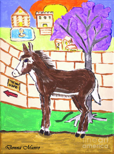 Painting - Tibo The Donkey by Donna L Munro