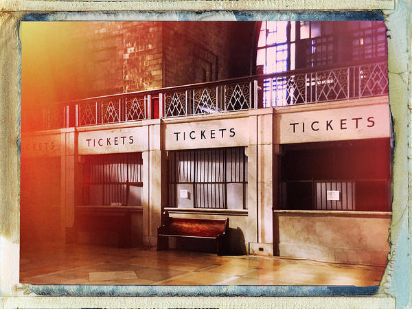 Wall Art - Photograph - Ticket Counter by Dominic Piperata