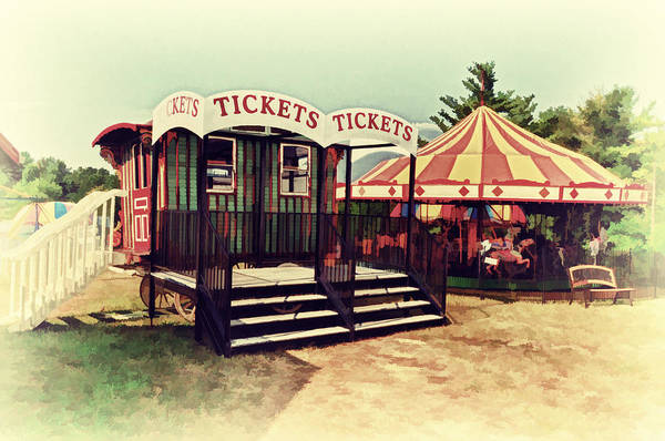 Fair Ground Photograph - Tickets Here by Kathy Jennings