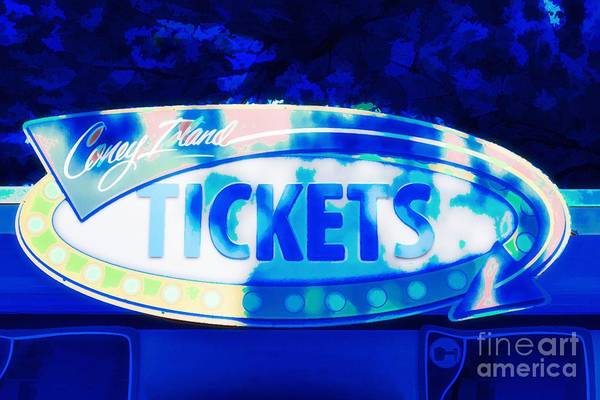 Photograph - Tickets In Blue by Mel Steinhauer
