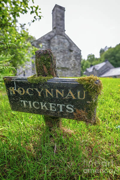 Welsh Church Wall Art - Photograph - Tickets Sign by Adrian Evans