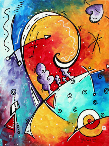 Heart Gold Painting - Tickle My Fancy Original Whimsical Painting by Megan Duncanson