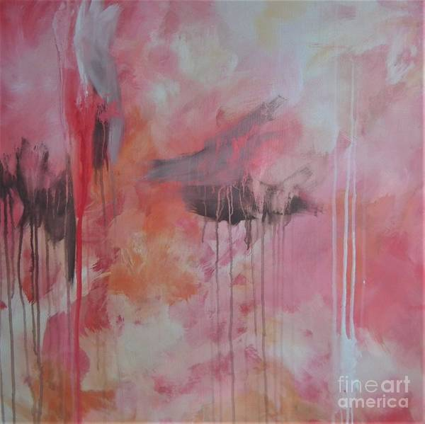 Painting - Tickled Pink 3 by Kristen Abrahamson