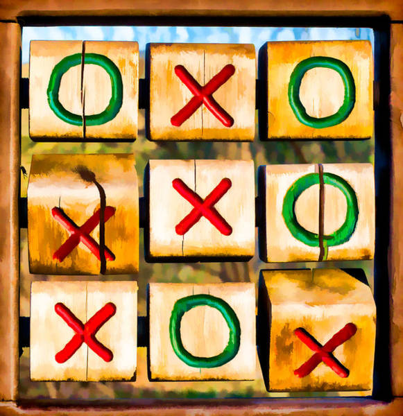 Photograph - Tictactoe Game Xoxo by Eleanor Abramson