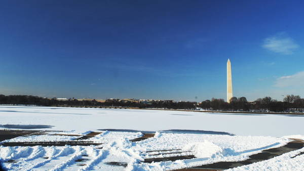 Photograph - Tidal Basin Snow by George Taylor