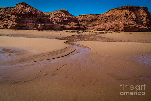 Photograph - Tidal Outwash by Roger Monahan