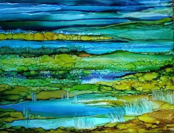 Painting - Tidal Pools by Betsy Carlson Cross