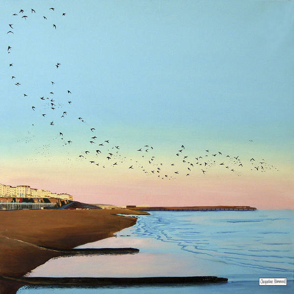 Painting - Tidal Sunset - The Swoop by Jacqueline Hammond