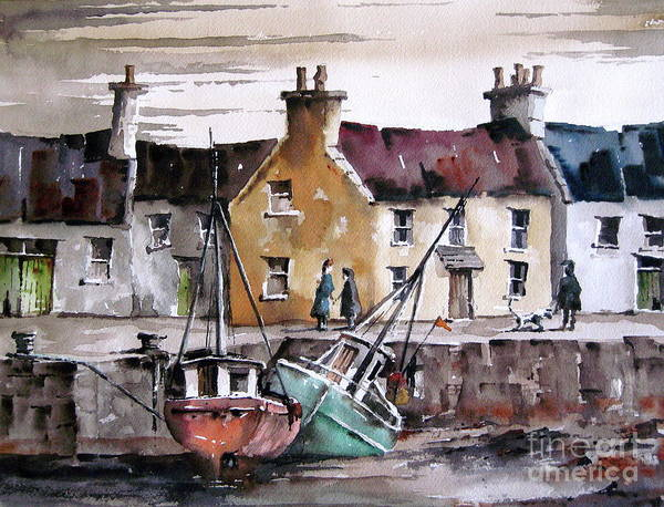 Painting - Tide Out , Kilronan, Aran More by Val Byrne