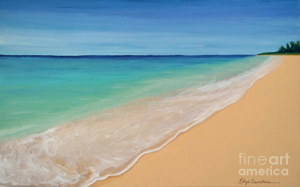 Painting - Tide Washing In by Robyn Saunders