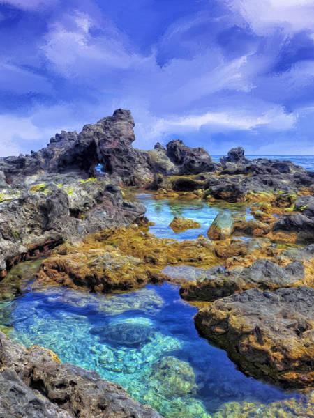 Painting - Tidepools Near Ho'okipa Maui by Dominic Piperata