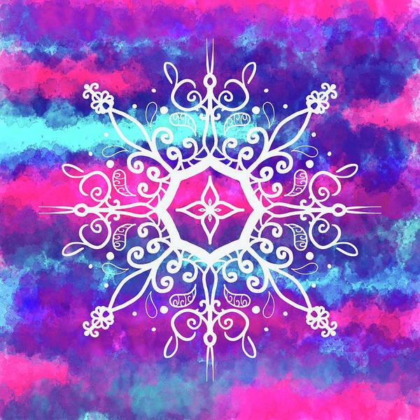 Shower Curtain Digital Art - Tie Dye Mandala  by Patricia Lintner