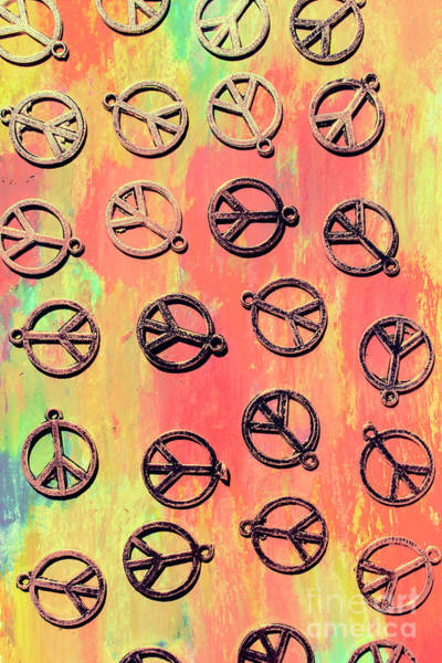 Wall Art - Photograph - Tie-dye Peace Pendants by Jorgo Photography - Wall Art Gallery