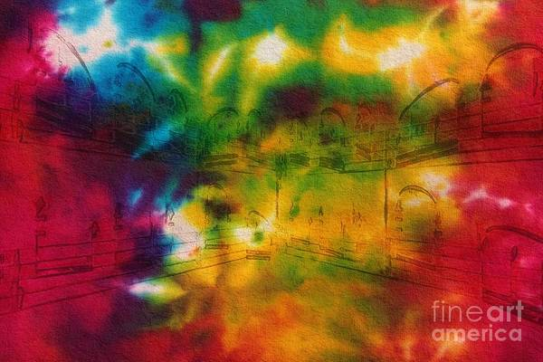 Tie-dyed Intermezzo Dream Art Print