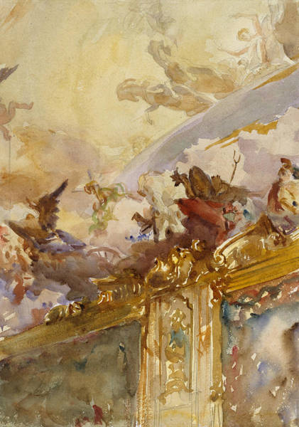 Drawing - Tiepolo Ceiling, Milan by John Singer Sargent