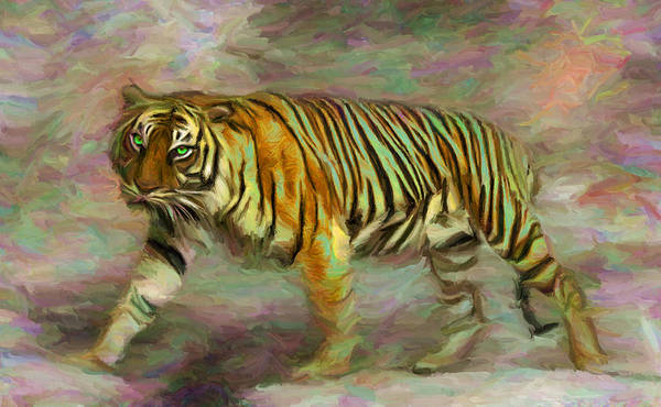 Digital Art - Save Tiger by Caito Junqueira