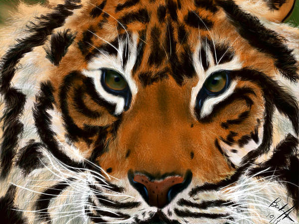 Painting - Tiger Eyes by Becky Herrera