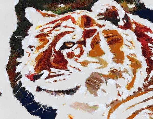 Digital Art - Tiger Fragmented by Catherine Lott