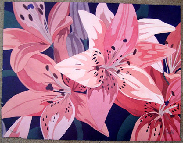 Wall Art - Painting - Tiger Lillies I by Dan Goad