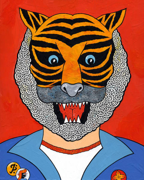 Eyeballs Painting - Tiger Man by Matt Leines