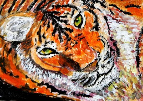 Wall Art - Painting - Look Into My Eyes by Anne Sands