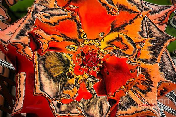 Photograph - Tiger Rose Neon by Jean Clarke