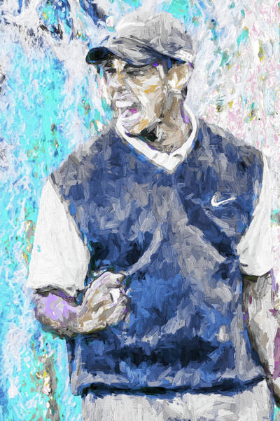 Photograph - Tiger Says 2 Painting Digital Golf by David Haskett II