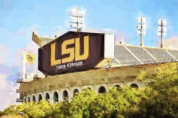 Wall Art - Photograph - Tiger Stadium - Digital Painting by Scott Pellegrin